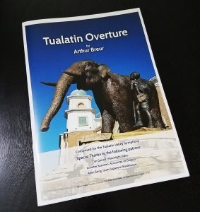 Tualatin Overture by Arthur Breur (printed conductor's score)
